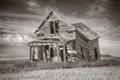 Abandoned house on the Montana high prairie