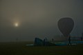 Launching Balloon in Fog