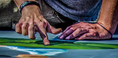 fingers chalk walk