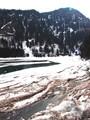 nelting mountain lake