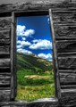 Window Framed Mountains