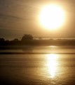 Rising Sun on the River Severn