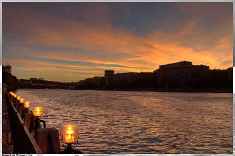 Sunset on Moscow river