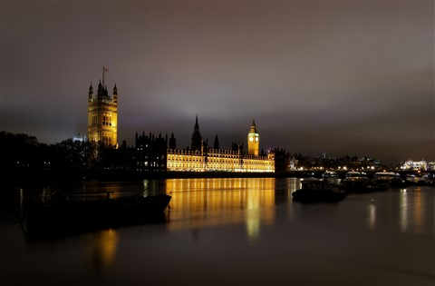 London Parliament at night