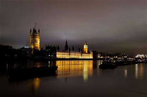 London Parliament at night