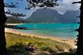 Turquoise sea on Lord Howe Island