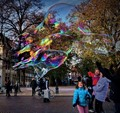 Bubbles and Kids in Bruge, Belgium