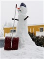 The angry snowman