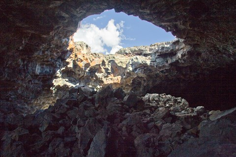Looking Out from a Lava Tube