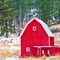 red barn in Hills winter 2011