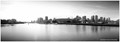 Vancouver Downtown Skyline Panorama 3 BW