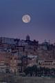 Moon over Valletta, Malta