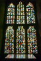 stain glass reflected
