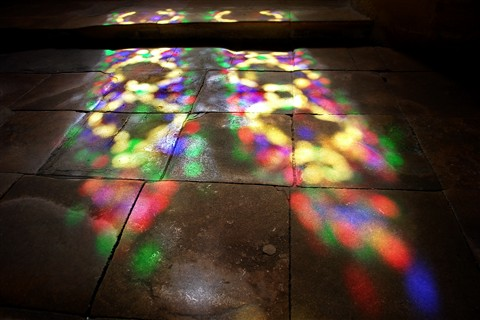 Sun Rays thru Stained Glass