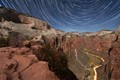 Star Trails from Angel's Landing