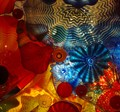 Chihuly's Under the Sea glass ceiling.