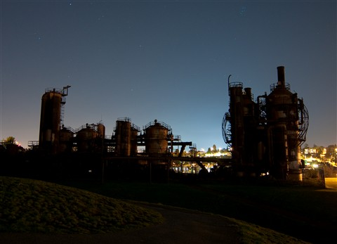 Stars over Gas Works