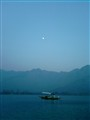 The lake and the moon