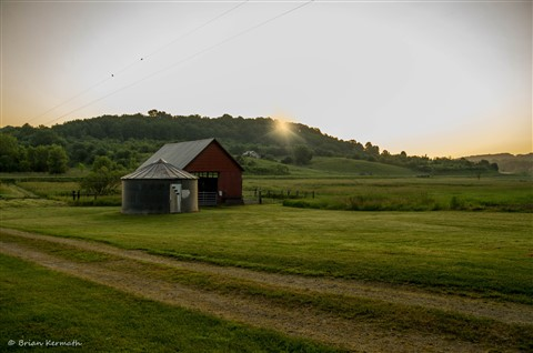 Sunrise on the farm