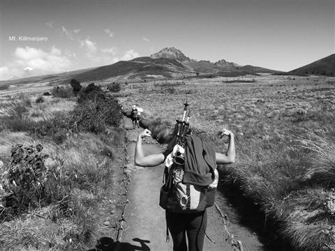 Luisa Climbing Forever B/W