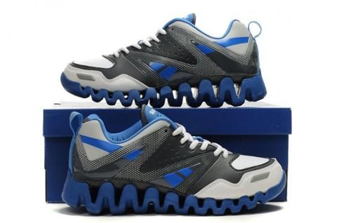 reebok zigtech mens grey white blue running shoes discount milkreebok galleries digital. Black Bedroom Furniture Sets. Home Design Ideas