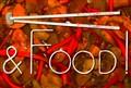 Chopsticks and food