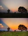 Sunset: Before and After