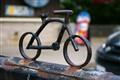 rusted bike stand