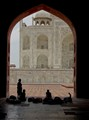 Resting women at Taj Mahal