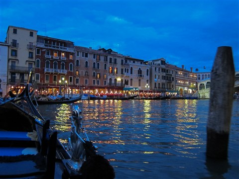 Gondola Ride, Venice Evening
