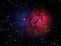 Hydrogen-α Red from M-20 nebula