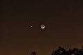 Venus and Mars - in a Cresent Moon triple conjunction