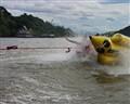Splash and off  the Banana Boat