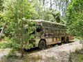 bus abandoned in the forest