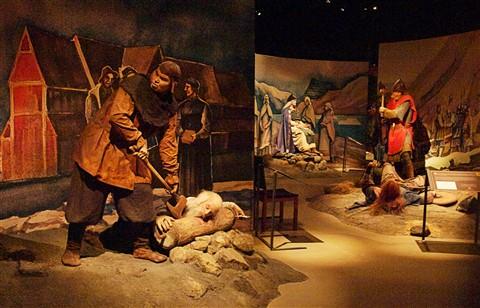 Juicy bits of icelandic History. Saga museum, Perlan, Reykjavik.Z7185318