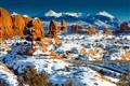 A rare blanket of snow in Moab, Ut
