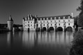 Château Chenonceau reflecting in the river Le Cher