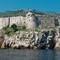 Napoleon's Imperial Fort looms over th old city DSC07554 Dubrovnik boat ride