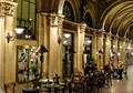 Coffee inside a covered passage at Vienna