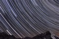 Startrails over Swiss Mountains