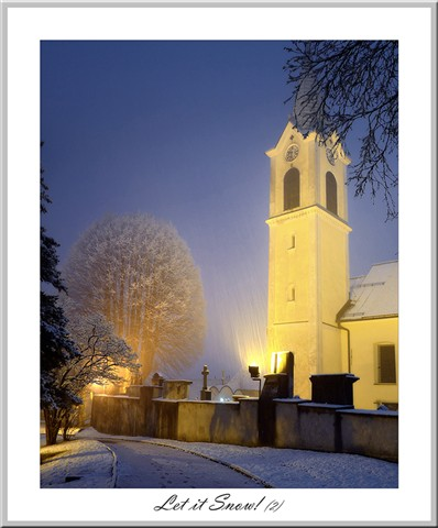 Church spire_snow