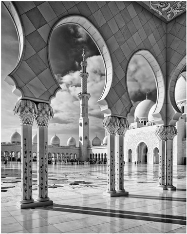 mosque 2 bw