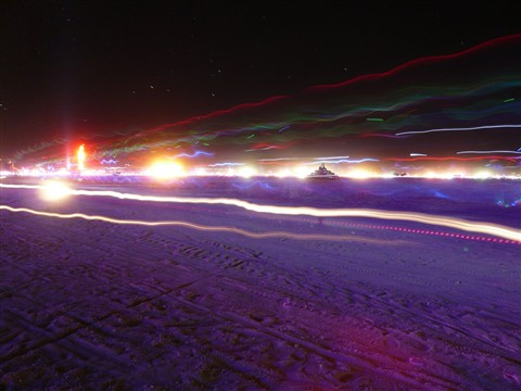 Glowing playa