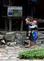 Caring for big little brother, Vietnam