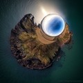 Boddin Point, Scotland - stereographic projection