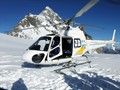 Helicopter Landing on Tutoku Glacier