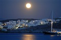 Naussa (Paros, Greece) in Moonlight