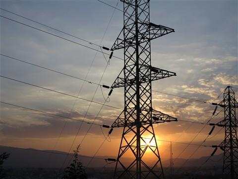 Power Line Stromleitung Sunset Sonnenuntergang Shiraz