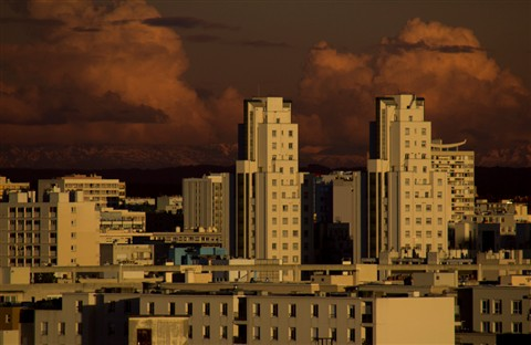 Sunset in Villeurbanne_