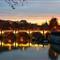 Rome Sunset Over Tevere River